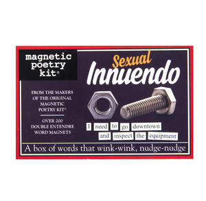 Sexual Innuendo - Fridge Magnet Set - Fridge Poetry Thumbnail 1