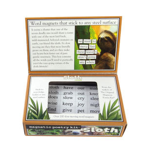 Sloth Lover - Fridge Magnet Set - Fridge Poetry Thumbnail 2