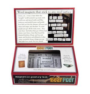 Beat Poet - Fridge Magnet Set - Fridge Poetry Thumbnail 3