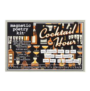 Cocktail Hour - Fridge Magnet Set - Fridge Poetry Thumbnail 1