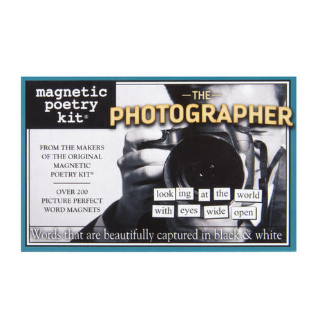 The Photographer - Fridge Magnet Set - Fridge Poetry