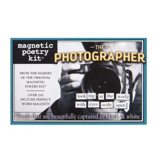 The Photographer - Fridge Magnet Set - Fridge Poetry Thumbnail 1
