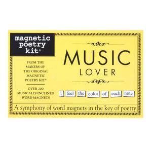 Music Lover - Fridge Magnet Set - Fridge Poetry Thumbnail 1