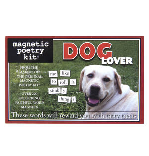 Dog Lover - Fridge Magnet Set - Fridge Poetry Thumbnail 1