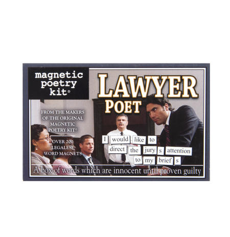 Lawyer Poet - Fridge Magnet Set - Fridge Poetry