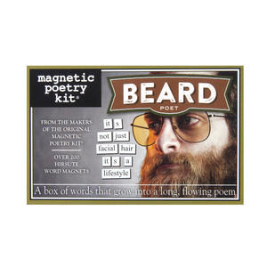 Beard Poet - Fridge Magnet Set - Fridge Poetry Thumbnail 1