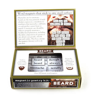 Beard Poet - Fridge Magnet Set - Fridge Poetry Thumbnail 3
