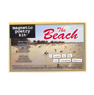 The Beach - Fridge Magnet Set - Fridge Poetry Thumbnail 1