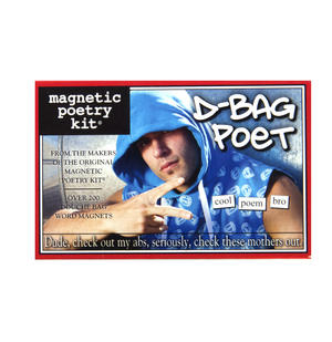 D-Bag Poet - Fridge Magnet Set - Fridge Poetry Thumbnail 1