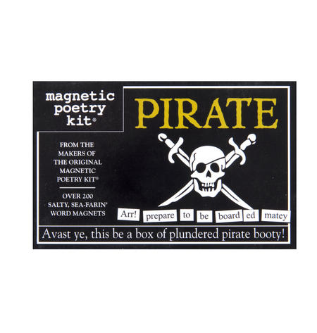 Pirate - Fridge Magnet Set - Fridge Poetry