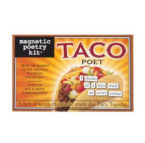 Taco Poet - Fridge Magnet Set - Fridge Poetry Thumbnail 1