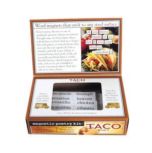 Taco Poet - Fridge Magnet Set - Fridge Poetry Thumbnail 3