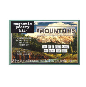 The Mountains - Fridge Magnet Set - Fridge Poetry Thumbnail 1