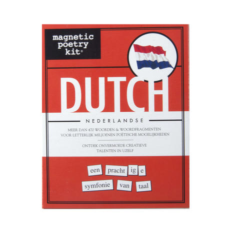 Dutch Fridge Magnet Poetry Set - Fridge Poetry