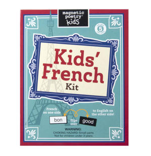 Kids French Fridge Magnet Poetry Set - Fridge Poetry Thumbnail 1