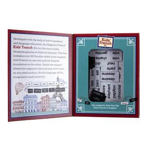 Kids French Fridge Magnet Poetry Set - Fridge Poetry Thumbnail 3