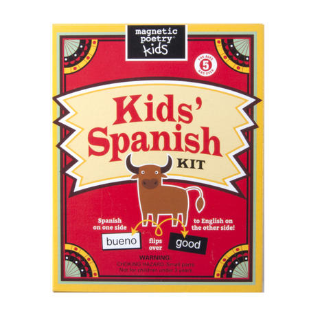 Kids Spanish Fridge Magnet Poetry Set - Fridge Poetry