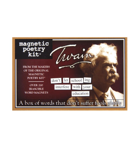 Mark Twain  - Fridge Magnet Set - Fridge Poetry