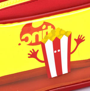 Popcorn (Yellow) Tasty Tincs PVC Pencil Case Thumbnail 2