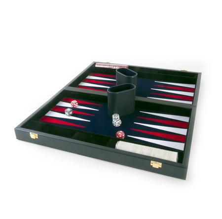"""Attaché Backgammon - Classic 15"""" Oxford Blue in an Attaché Case"""