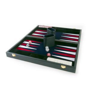 "Attaché Backgammon - Classic 15"" Oxford Blue in an Attaché Case Thumbnail 1"