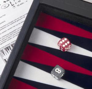 "Attaché Backgammon - Classic 15"" Oxford Blue in an Attaché Case Thumbnail 2"