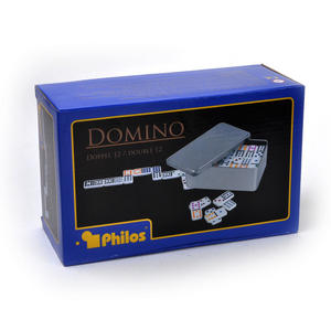 Classic Dominoes - Set of Domino Double Twelves in A Metal Box Thumbnail 4