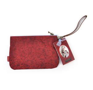 Rose Tea Flat Clutch - Mirabelle Neoprene Accessory Case Thumbnail 5
