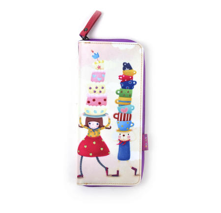 Tea Party - Kori Kumi Neoprene Pencil & Accessory Case