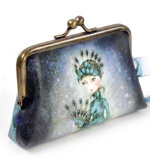 "Miss Peacock - 5"" Clasp Purse By Mirabelle"