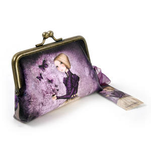 "Amethyst Butterfly - 5"" Clasp Purse By Mirabelle Thumbnail 3"