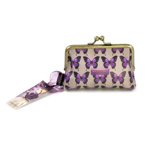 "Amethyst Butterfly - 5"" Clasp Purse By Mirabelle Thumbnail 4"