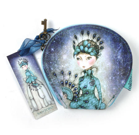 Miss Peacock - Curved Flat Purse By Mirabelle