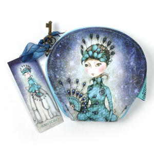 Miss Peacock - Curved Flat Purse By Mirabelle Thumbnail 1