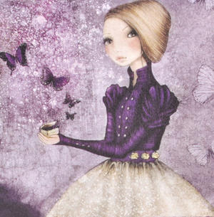 Deluxe Amethyst Butterfly Purse By Mirabelle Thumbnail 2