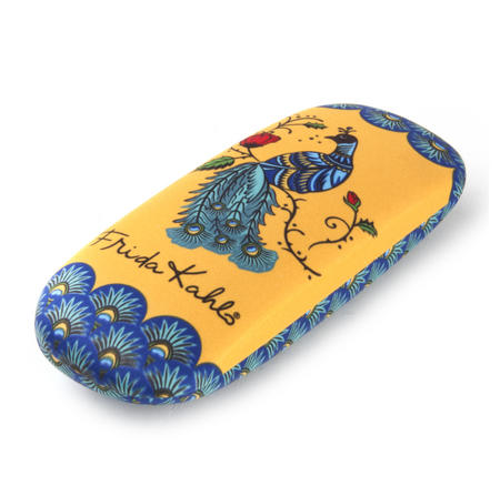 Frida Kahlo Peacock Glasses Case and Lens Cloth Set