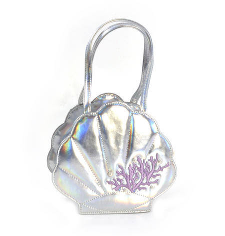 Silver Pearl Mermaid Hand Bag