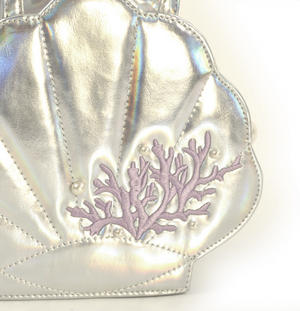 Silver Pearl Mermaid Hand Bag Thumbnail 2