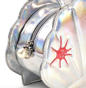 Silver Pearl Mermaid Hand Bag Thumbnail 6