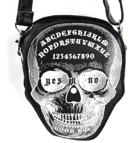 Ouija Skull Large Shoulder Bag