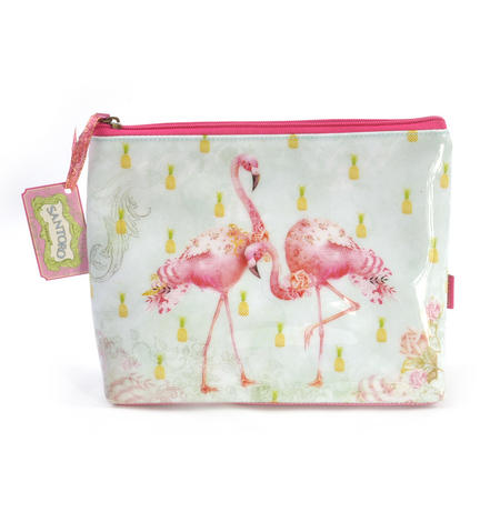 Flamingos Large Accessory Case by Santoro