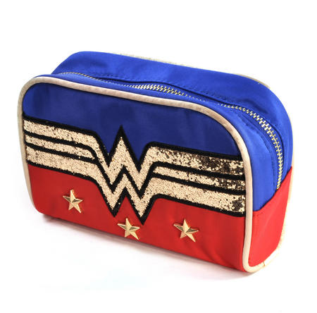 Wonder Woman Gold Sequins Make Up Bag