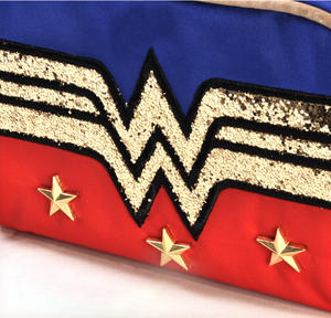 Wonder Woman Gold Sequins Make Up Bag Thumbnail 2