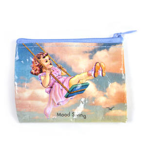 Mood Swing Blue Q Eco-Woven Coin Purse Thumbnail 1