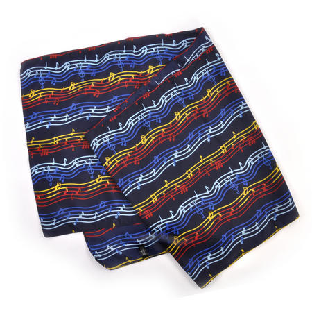 Composer / Musician / Choir Scarf with Musical Notation Design