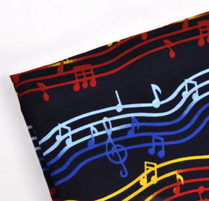 Composer / Musician / Choir Scarf with Musical Notation Design Thumbnail 3