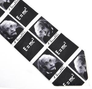 Albert Einstein Tie with E=MC2 Design Thumbnail 1