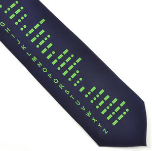 Morse Code Tie for Cryptographers, Spies and Codebreakers Thumbnail 1
