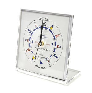 Classic Dial Square Standing Tide Clock - Acrylic TC 1010 C - ACR 150 x 150mm Thumbnail 1
