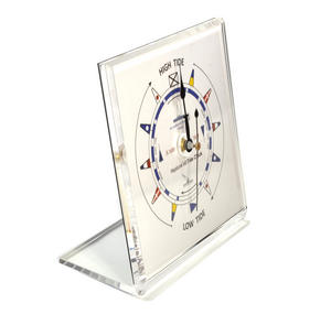 Classic Dial Square Standing Tide Clock - Acrylic TC 1010 C - ACR 150 x 150mm Thumbnail 2